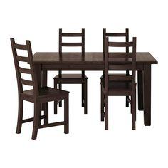 IKEA - STORNÄS / KAUSTBY, Tisch und 4 Stühle, Ausziehbarer Esstisch mit 1 Zusatzplatte; bietet Platz für 4-6 Personen. Größe des Tisches je nach Bedarf anpassbar.Die Zusatzplatte lässt sich leicht zugänglich unter der Tischplatte verstauen.Massive Kiefer; ein Naturmaterial, das in Würde altert.