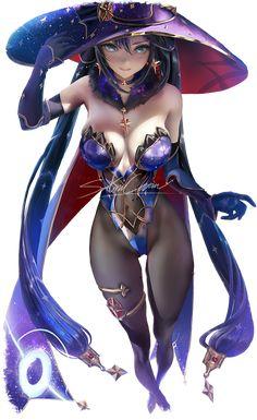 Female Character Design, Cute Anime Character, Character Art, Fantasy Female Warrior, Fantasy Witch, Cool Anime Girl, Beautiful Anime Girl, Art Anime, Anime Art Girl