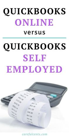 QuickBooks Online versus QuickBooks Self-Employed -- what's the difference and when should you make the switch? Find out the best accounting software choice in this in-depth comparison. quickbooks online tips Small Business Accounting Software, Accounting Classes, Accounting Books, Small Business Bookkeeping, Business Education, Accounting Basics, Online Business, Online Bookkeeping, Bookkeeping Software