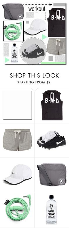 """""""workout style !"""" by kts-desilva ❤ liked on Polyvore featuring Zoe Karssen, New Look, NIKE, Converse, Urbanears, Aquaovo and workout"""