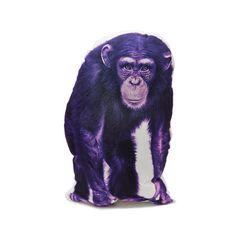 Chimpanzee pillow Chimpanzee cushion Chimpanzee purple