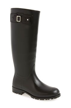 Saint Laurent 'Festval' Tall Rain Boot (Women) | Fashiondoxy.com