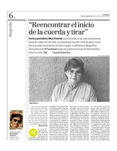 Poeta y periodista Miyó Vestrini.  Publicado el 23 de agosto de 2008