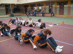 The Human Caterpillar Game! I am so doing this for DJ's Party!