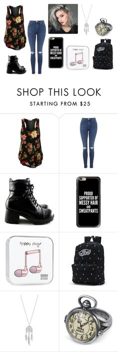 """""""Untitled #285"""" by shyoxic on Polyvore featuring Topshop, Casetify, Vans and Lucky Brand"""