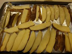 The Duggar's Oven Fries - easy and tasty side dish (a potato per person you are serving makes it easy to adjust as well)