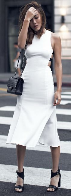 Street Style - LOVE this dress!!!! women fashion outfit clothing stylish apparel @roressclothes closet ideas