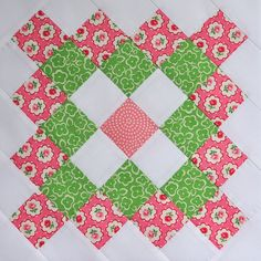 Pink Great Granny Block by bitty bits & pieces