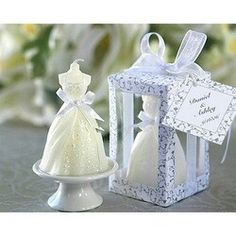Wedding dress candle $6