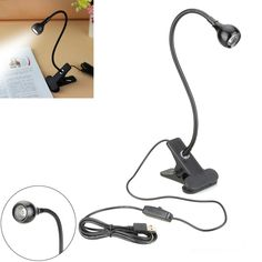 USB LED flexible bendy light lamp for computers reading car bedroom travel use
