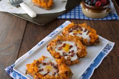 Twice Baked Breakfast Sweet Potatoes | Plaid & Paleo