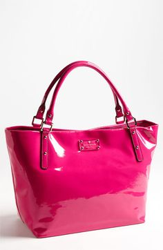 Kate Spade - Flicker Sophie Crinkled Patent Shoulder Bag - the color! Cheap Kate Spade Purses, Kate Spade Handbags, Tote Handbags, Purses And Handbags, Cheap Purses, Pink Handbags, Kate Spade Pink, Kate Spade Bag, Fashion Handbags