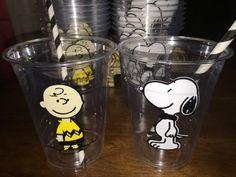 Tazas de fiesta marrón de Charlie partido por ohsoaudreycreations