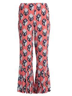 GG Wallpaper-print silk trousers  | Gucci | MATCHESFASHION.COM
