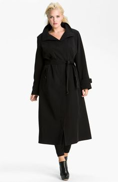 Gallery Long Coat with Detachable Hood & Liner (Plus) available at #Nordstrom $348