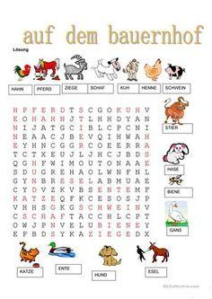 Tiere - Auf dem Bauernhof Deutsch Language, German Language Learning, Learn German, Disney Tips, Woodland Party, Worksheets For Kids, Animals For Kids, Farm Animals, Kids And Parenting