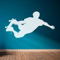 Vinilo decorativo deportivo con la silueta de un skater. Masquevinilo.com