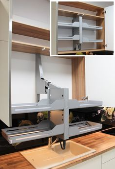 Funkcjonalna winda do szafki Furniture Design, Loft, Desk, Home Decor, Lofts, Table Desk, Interior Design, Offices, Home Interior Design