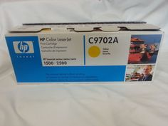 2 HP OEM Color Laser Jet Yellow C9702A Magenta C9703A Print Cartridges  #HP