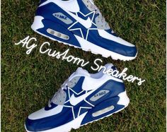 online store a2a15 95271 Mens Nike Air Max 90 Custom Dallas Cowboys White Dark Blue,Nike exclusive  sponsorship of romantic Valentine s Day.