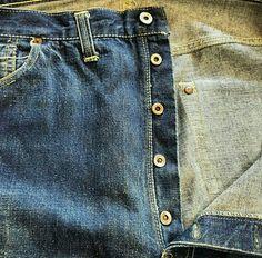 Vtg levi's S501XX 40's WW 2 fabric