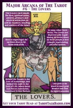 Tarot card meanings and the Lovers:)