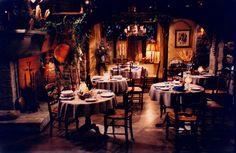 French restaurant set design by Ron olsen Stage Design, Set Design, French Restaurants, Table Settings, Olsen, Architecture, Interior, Homes, Tv