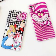 Relief Emboss Phone Cases Alice's Adventures in Wonderland Minnie For iPhone 6 7 Plus Colorful Cartoon Figure- 090117