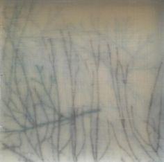 Algues - © 2012 Christelle Sauzet -   Encaustic painting