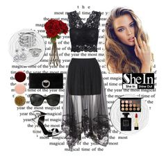 """""""Shein skirt"""" by fernweh-love ❤ liked on Polyvore featuring Gucci, Giuseppe Zanotti, Nails Inc., Allurez, Dolce&Gabbana, MAC Cosmetics, Michael Kors, Chanel, Sia and contest"""