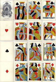 cards by Goodall and Son with modernised courts, c.1845-60