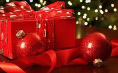 Christmas red balls, New Year, Christmas gift