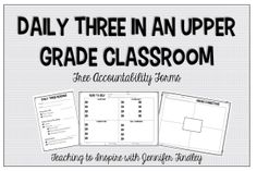 This post provides resources for Daily Three Reading centers in an upper elementary classroom. Example activities and free forms are included.