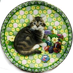 Lesley Anne Ivory Meet My Kittens April Calender Cat Plate | eBay