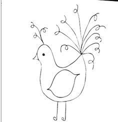FREE Bad Hair Day Bird Embroidery Pattern  by sara ~~ thesplitstitch, via Flickr