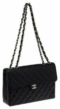 28a6aefac01b Black XL Jumbo Flap Bag Quilted Shoulder Bags