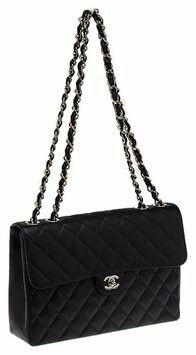 Black XL Jumbo Flap Bag
