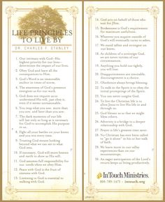 Dr. Charles Stanley: 30 Life Principles to Live By