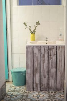 Originales lavabos con piezas recicladas