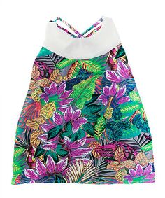 This Green & Purple Floral Dress - Infant, Toddler & Girls is perfect! #zulilyfinds
