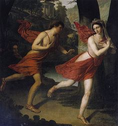 Apollo and Daphne Dressed in Red