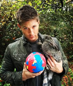 Dean and the SPN tape ball