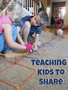 Teaching Kids to Share. Great parenting tips on how to teach kids to share.