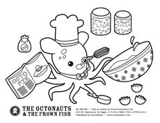 octonauts printable activity/coloring pages | fishy/under the sea ... - Octonauts Coloring Pages Print