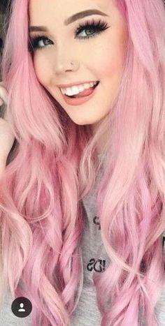 Lace Frontal Wigs Pink Hair Chocolate Pink Hair For Women – wigbaba Pastel Pink Hair, Pink Wig, Hair Color Pink, Purple Hair, Bob Hairstyles, Braided Hairstyles, School Hairstyles, Wedding Hairstyles, Tumbr Girl