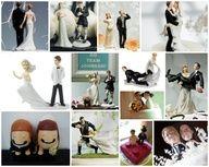 Muñecos de torta de bodas super originales!