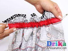 Como fazer um lindo puxa saco em tecido passo a passo