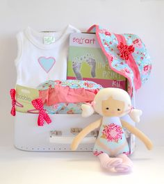 Beautiful Hamper for a little princess For more hampers, clothes, accessories and keepsakes please visit my website. www.sweetarrivals.com.au