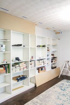 Latest Free How to Build Easy Built Ins from IKEA Bookcases - Lovely Etc. Ideas An Ikea children's space continues to amaze the children, because they are offered a lot more tha Ikea Billy Bookcase Hack, Bookshelves Built In, Built Ins, Billy Bookcases, Bookshelf Design, Diy Furniture Plans, Ikea Furniture, Furniture Makeover, Billy Ikea