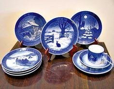 Royal Copenhagen Danish Christmas plates